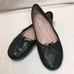 Chloe soft green leather Ballet Flats 38